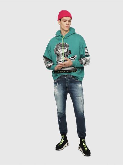Diesel - S-KB MID ATHL SOCK, Negro - Sneakers - Image 6