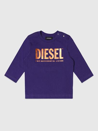 Diesel - TJUSTLOGOB-FL ML, Violeta - Camisetas y Tops - Image 1