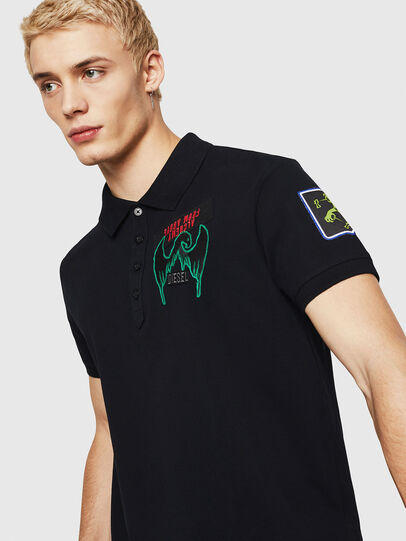 Diesel - T-POLO-PATCHES, Negro - Polos - Image 3