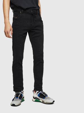 Krooley JoggJeans 0092N, Negro/Gris oscuro - Vaqueros