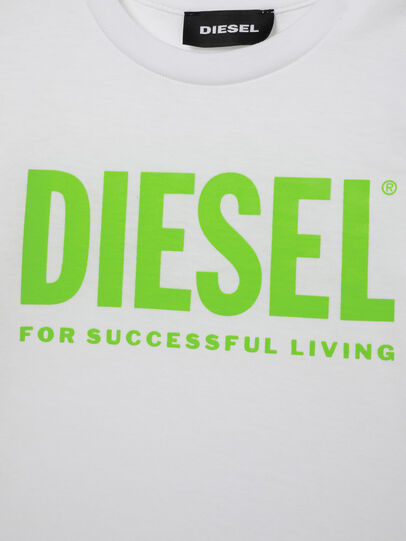 Diesel - TJUSTLOGOB ML, Blanco/Verde - Camisetas y Tops - Image 3