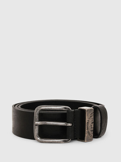 Diesel - B-FRAG, Piel Negra - Cinturones - Image 1