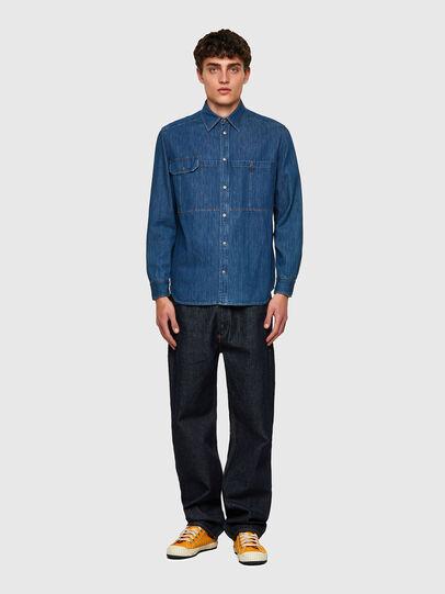 Diesel - D-MILLY-SP, Azul medio - Camisas de Denim - Image 4