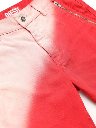 Diesel - GR02-P303, Rojo/Blanco - Shorts - Image 3
