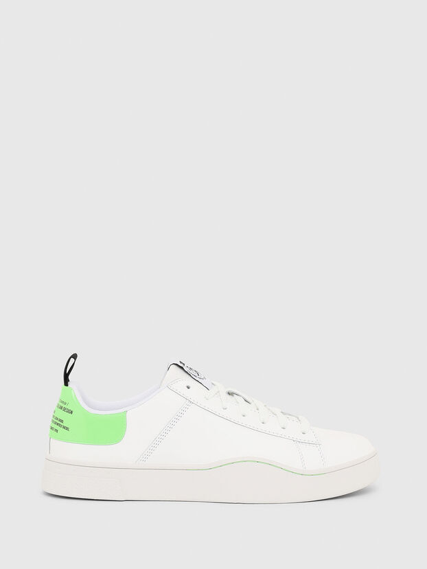 S-CLEVER LOW LACE, Blanco/Verde - Sneakers