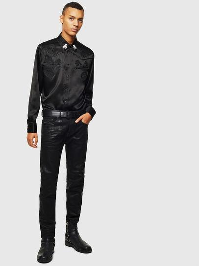 Diesel - S-VEL, Negro - Camisas - Image 7