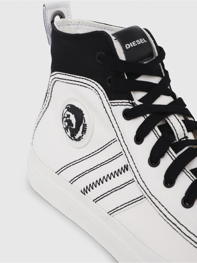 Diesel - S-ASTICO MID LACE, Blanco/Negro - Sneakers - Image 5