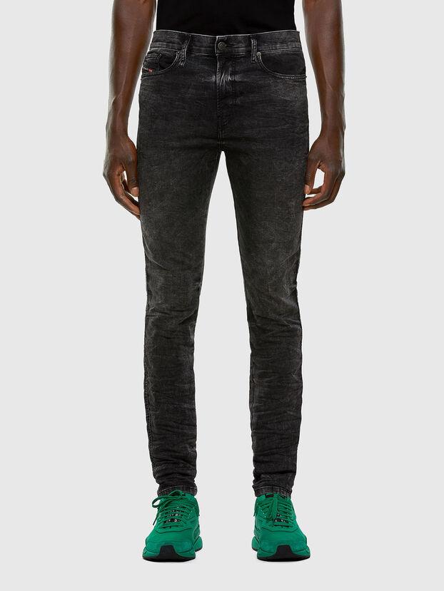 D-Reeft JoggJeans 009FZ, Negro/Gris oscuro - Vaqueros