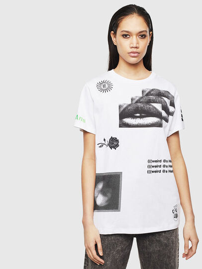 Diesel - T-DARIA-S1, Blanco - Camisetas - Image 1