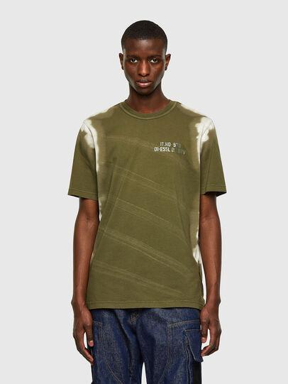 Diesel - T-JUBIND-SLITS-A3, Verde Militar - Camisetas - Image 1