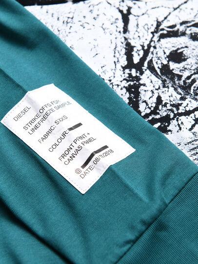 Diesel - TFONTYBJ OVER, Verde Agua - Camisetas y Tops - Image 3