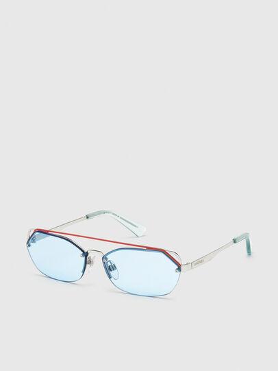 Diesel - DL0313, Blanco/Rojo - Gafas de sol - Image 2