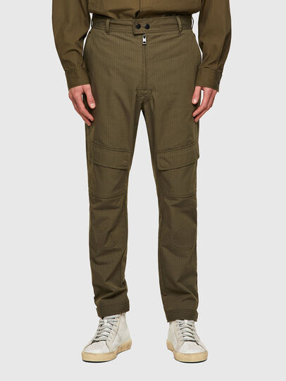 Diesel - P-SIDE, Verde Militar - Pantalones - Image 1