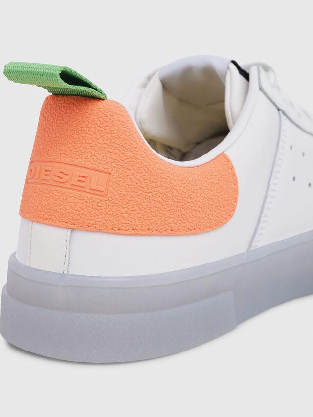 Diesel - S-CLEVER LOW, Blanco/Naranja - Sneakers - Image 5