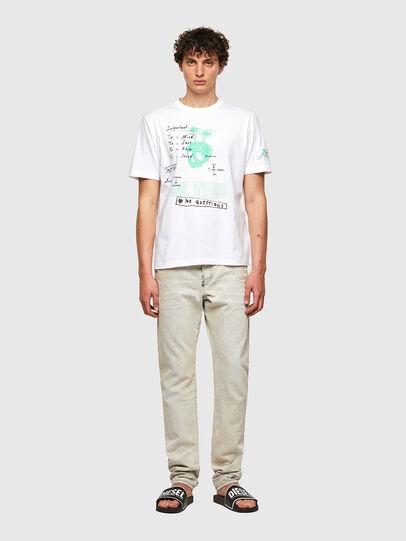 Diesel - T-JUST-B61, Blanco - Camisetas - Image 7