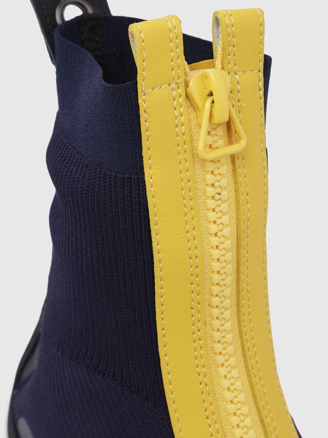 Diesel - H-PADOLA MID ZIP, Azul/Amarillo - Sneakers - Image 5