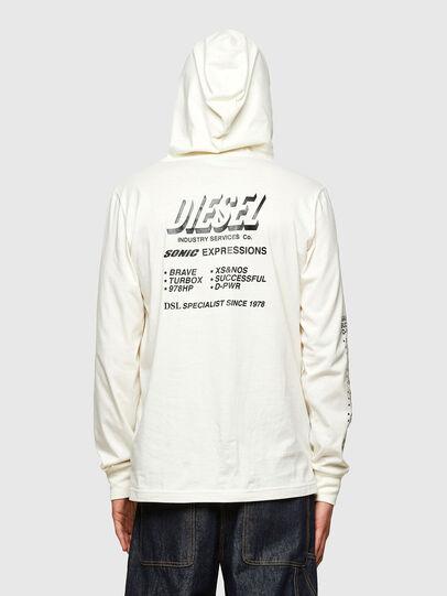 Diesel - T-JUST-LS-HOOD-SLITS, Blanco - Camisetas - Image 2