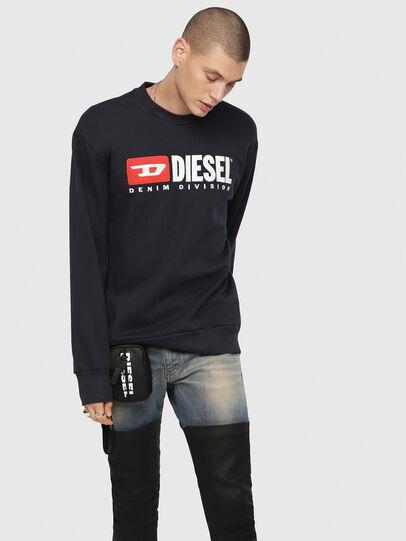 Diesel - S-CREW-DIVISION, Azul Oscuro - Sudaderas - Image 1