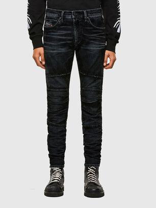 D-Strukt JoggJeans 069TG, Negro/Gris oscuro - Vaqueros