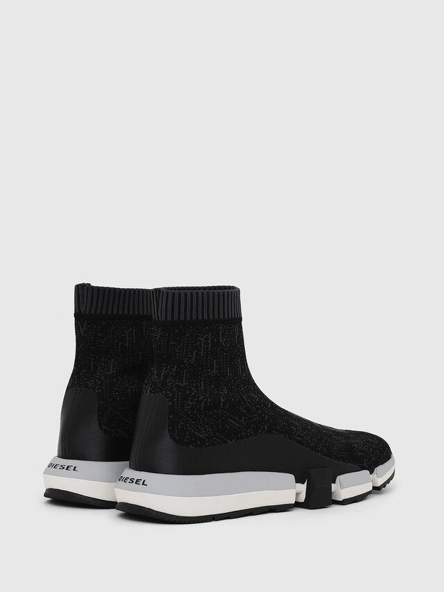 Diesel - H-PADOLA MID SOCK, Negro - Sneakers - Image 3