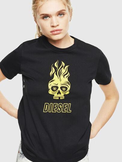 Diesel - T-SILY-WQ, Negro/Amarillo - Camisetas - Image 1