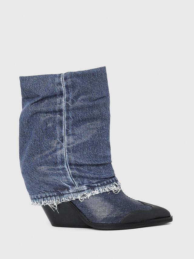 Diesel - D-WEST MB, Blue Jeans - Botines - Image 1