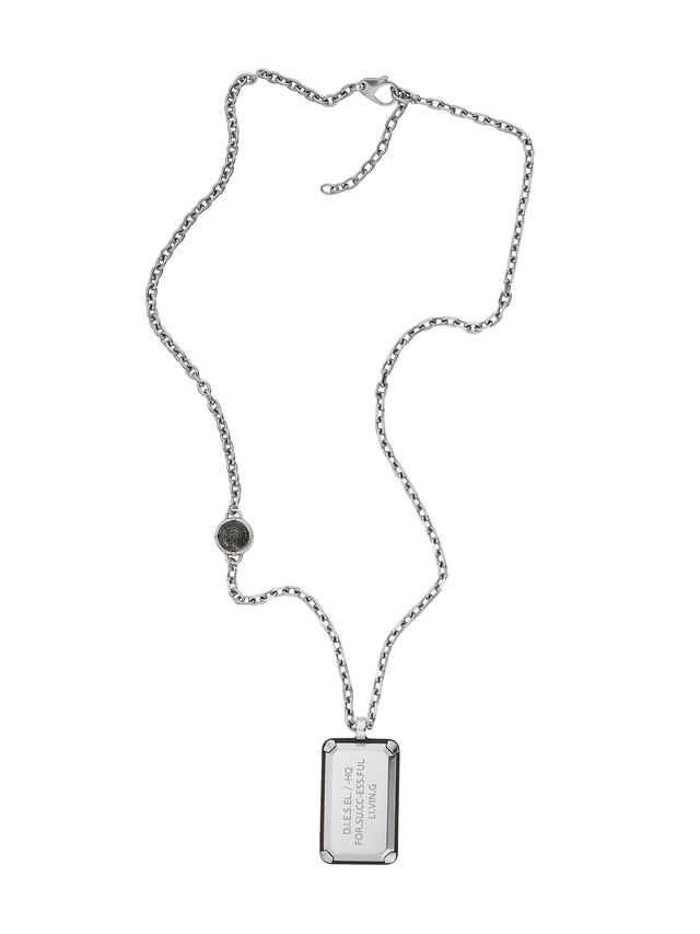 Diesel - NECKLACE DX1019, Plata - Collares - Image 1