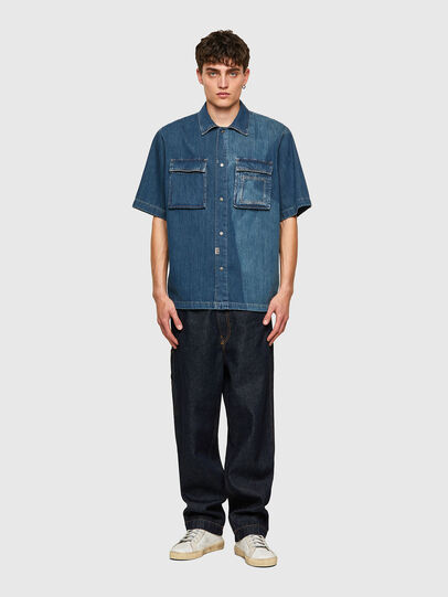 Diesel - D-GUNN-SP, Azul medio - Camisas de Denim - Image 5