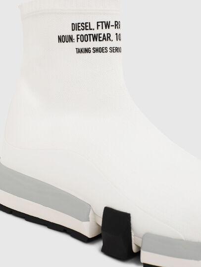 Diesel - H-PADOLA HIGH SOCK, Blanco - Zapatillas - Image 5