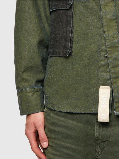 Diesel - D-CORU-SP, Verde Militar - Camisas de Denim - Image 3