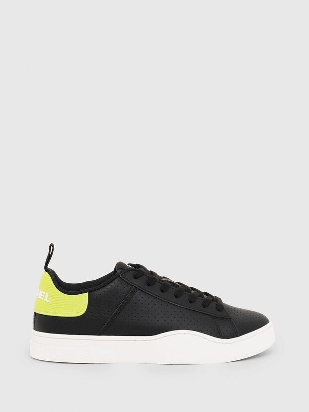 S-CLEVER LOW LACE W, Negro/Amarillo - Sneakers