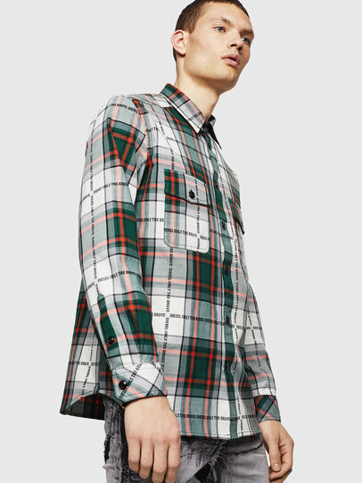 Diesel - S-MILLER-A, Verde Oscuro - Camisas - Image 1