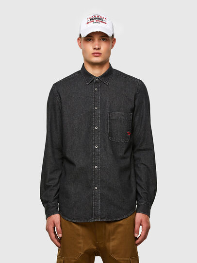 Diesel - D-BILLY, Negro - Camisas de Denim - Image 1