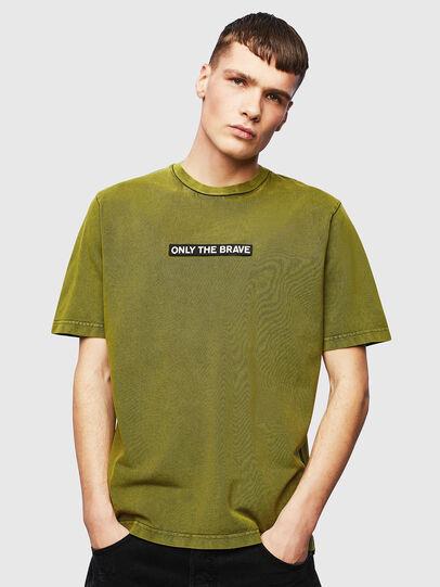 Diesel - T-JUST-SLITS-T15, Amarillo - Camisetas - Image 1