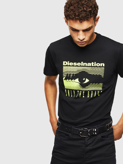 Diesel - T-DIEGO-J4, Negro - Camisetas - Image 6