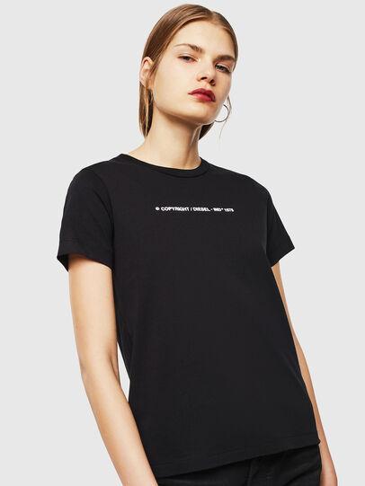 Diesel - T-SILY-COPY, Negro - Camisetas - Image 1