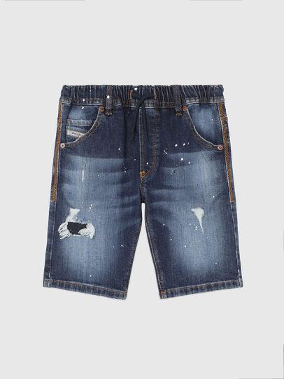 Diesel - KROOLEY-NE-J SH, Azul Oscuro - Shorts - Image 1