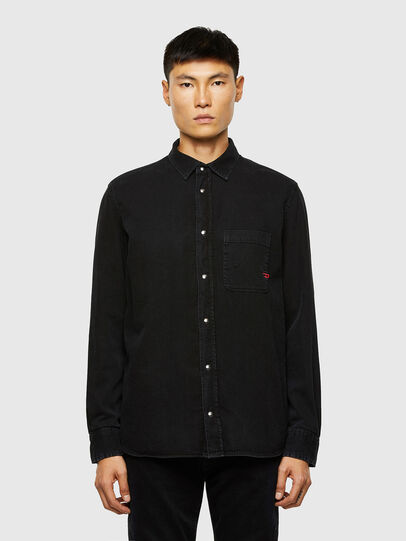 Diesel - D-WEAR-B1, Negro - Camisas de Denim - Image 1