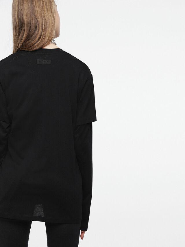 Diesel - T-DARIA-C, Negro/Rosa - Camisetas - Image 2