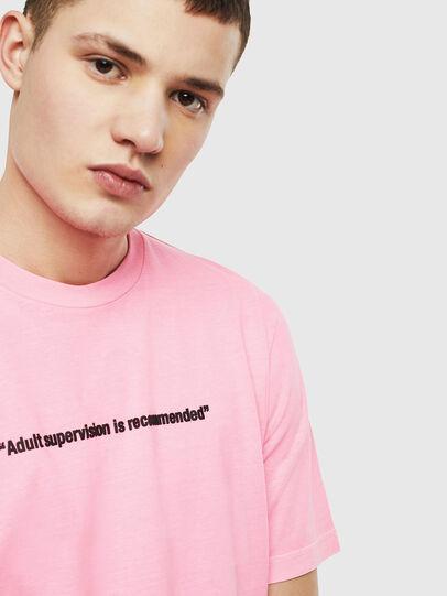 Diesel - T-JUST-NEON, Rosa - Camisetas - Image 5