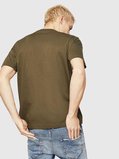 Diesel - T-JUST-DIVISION-D, Verde Militar - Camisetas - Image 2