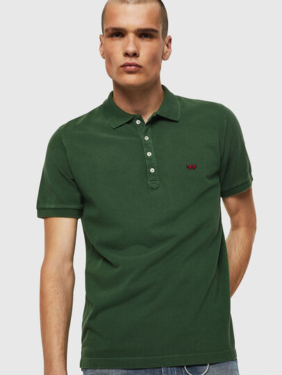 Diesel - T-NIGHT-NEW, Verde Oscuro - Polos - Image 1