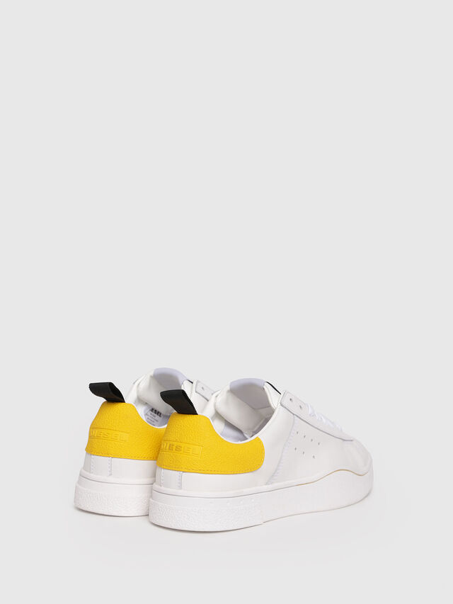 Diesel - S-CLEVER LOW W, Blanco/Amarillo - Sneakers - Image 3