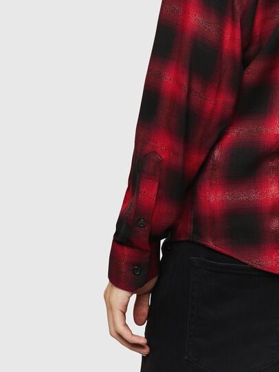 Diesel - S-MARLENE-C, Rojo/Negro - Camisas - Image 4