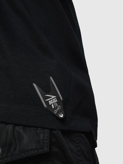 Diesel - T-JUST-LS-NEW, Negro - Camisetas - Image 4