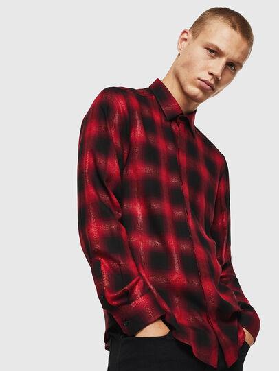 Diesel - S-MARLENE-C, Rojo/Negro - Camisas - Image 1