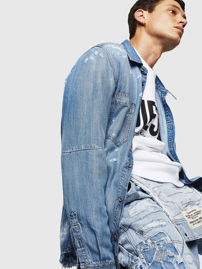 Diesel - D-FRED, Azul Claro - Camisas de Denim - Image 7