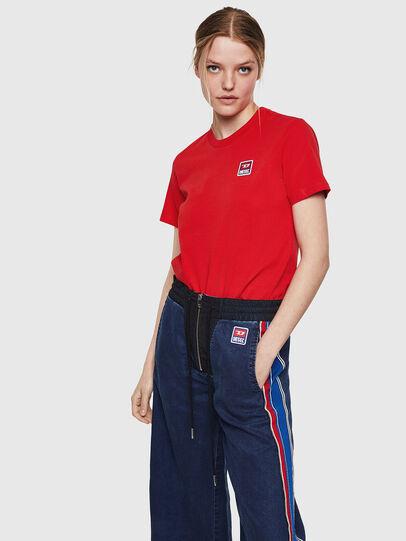 Diesel - T-SILY-ZE, Rojo Fuego - Camisetas - Image 4