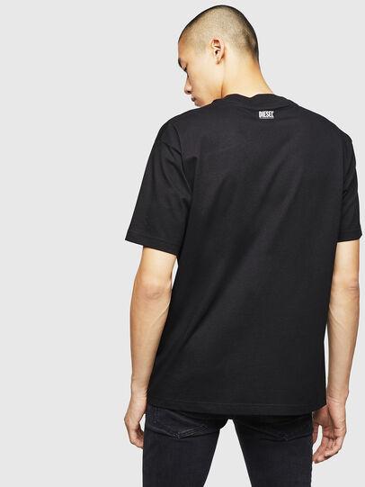 Diesel - T-LUCAS-NML-B1, Negro - Camisetas - Image 2