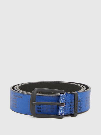 Diesel - B-DERUB, Negro/Azul marino - Cinturones - Image 1
